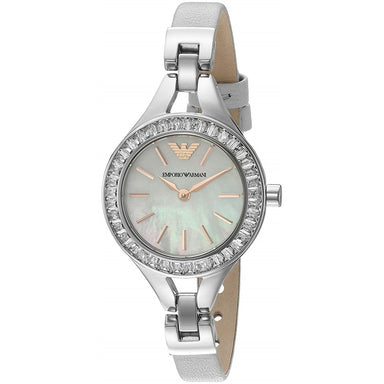 Emporio Armani Women's AR7426 Dress Crystal Grey Leather Watch