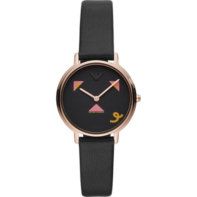 Emporio Armani Women's AR80022 Year of the Pig Black Leather Watch