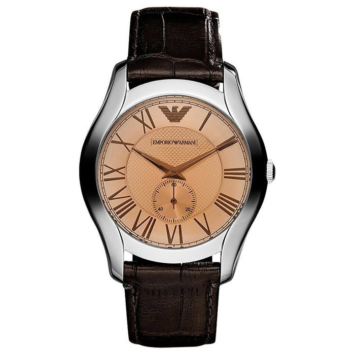 Emporio Armani Men's AR9110 Valente Brown Leather Watch