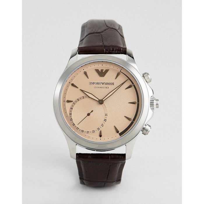 Emporio Armani Men's ART3014 Connected Brown Leather Watch