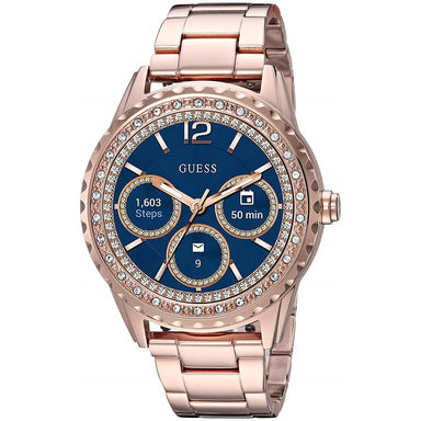 Guess Smartwatch Quartz Rose Gold-Tone Stainless Steel Watch C1003L4