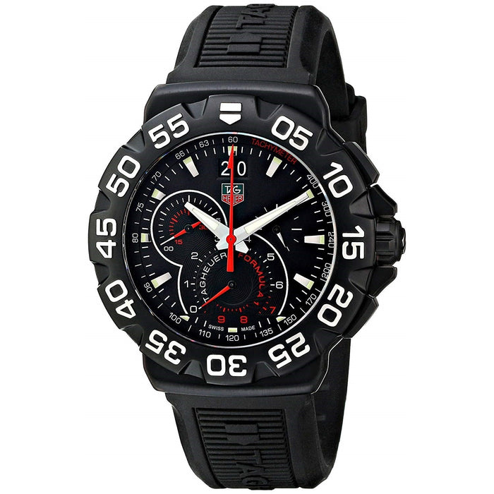 Tag Heuer Formula 1 Quartz Chronograph Black Rubber Watch CAH1012.BT0717