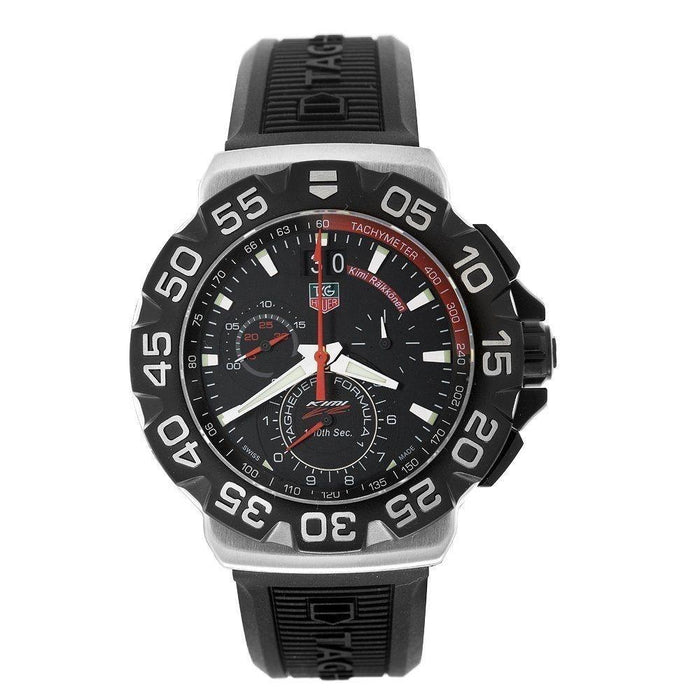 Tag Heuer Formula 1 Grande Quartz Chronograph Black Rubber Watch CAH1014.BT0718