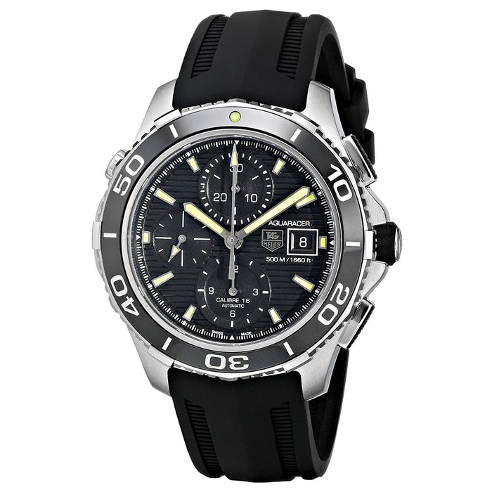 Tag Heuer Aquaracer Automatic Chronograph Automatic Black Rubber Watch CAK2111.FT8019