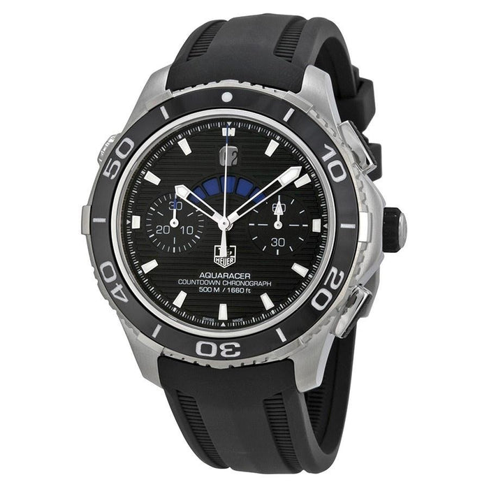 Tag Heuer Aquaracer Automatic Chronograph Automatic Black Rubber Watch CAK211A.FT8019