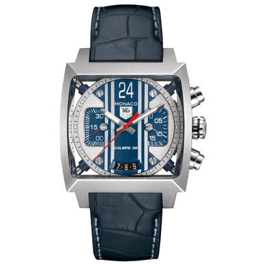 Tag Heuer Monaco Automatic Chronograph Automatic Blue Leather Watch CAL5111.FC6299