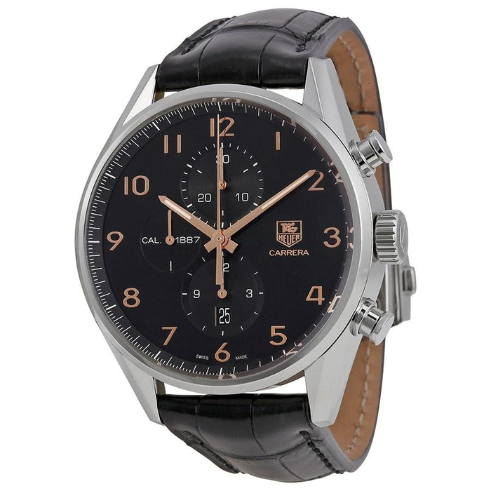 Tag Heuer Carrera Quartz Chronograph Brown Leather Watch CAR2014.FC6236