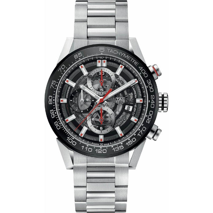 Tag Heuer Carrera Calibre Heuer 01 Automatic Chronograph Automatic Stainless Steel Watch CAR201V.BA0766