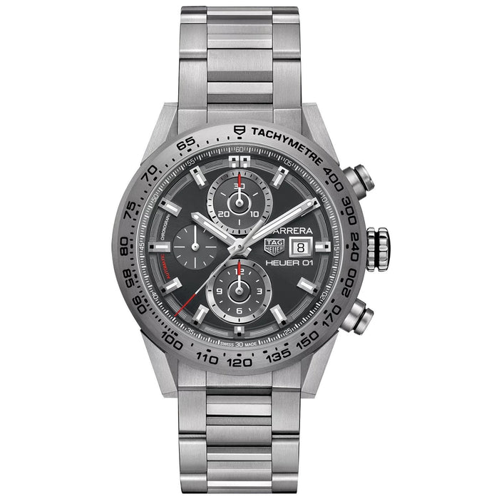 Tag Heuer Carrera Calibre Heuer 01 Automatic Chronograph Automatic Titanium Watch CAR208Z.BF0719