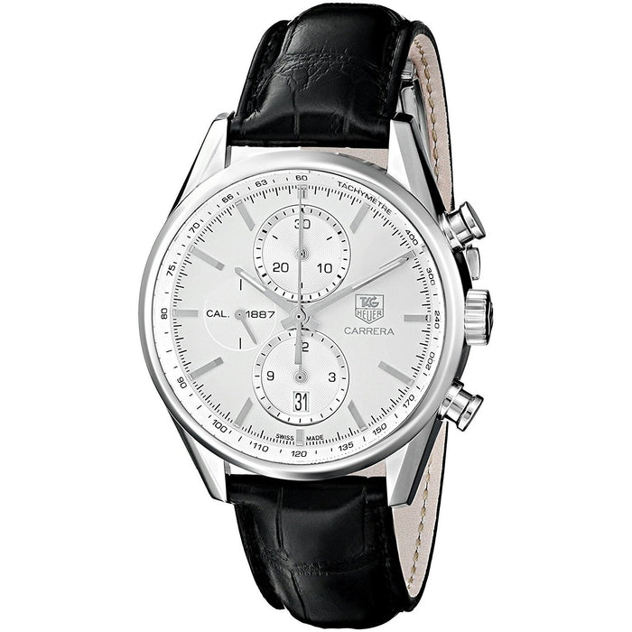 Tag Heuer Carrera Automatic Chronograph Automatic Black Leather Watch CAR2111.FC6266