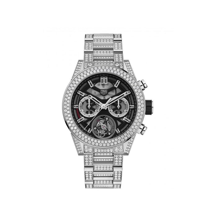 Tag Heuer Carrera Quartz Chronograph Stainless Steel with Sets of Diamonds Watch CAR5A1Z.BA0510