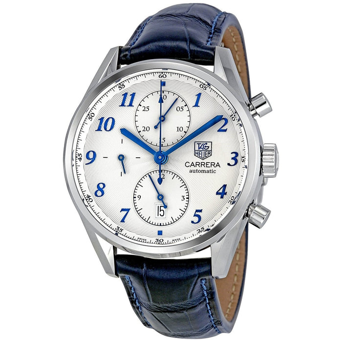 Tag Heuer Carrera Calibre 1887 Automatic Chronograph Automatic Blue Leather Watch CAS2111.FC6292