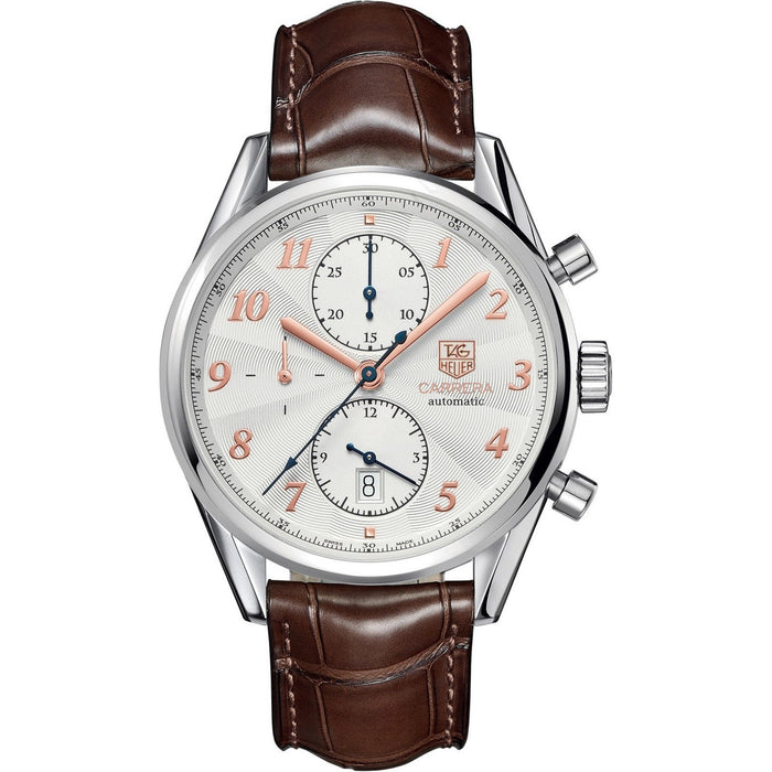 Tag Heuer Carrera Quartz Chronograph Brown Leather Watch CAS2112.FC6291