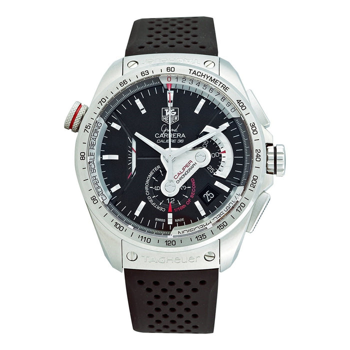 Tag Heuer Grand Carrera Automatic Chronograph Automatic Black Rubber Watch CAV5115.FT6019