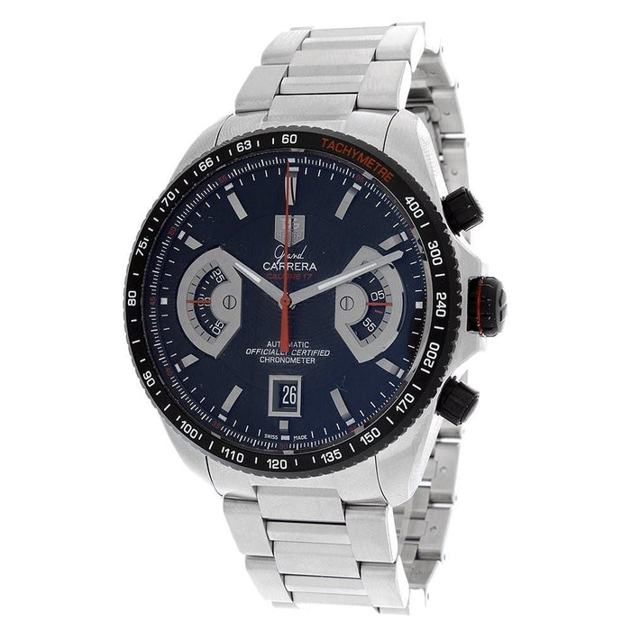 Tag Heuer Grand Carrera Automatic Chronograph Stainless Steel Watch CAV511C.BA0904