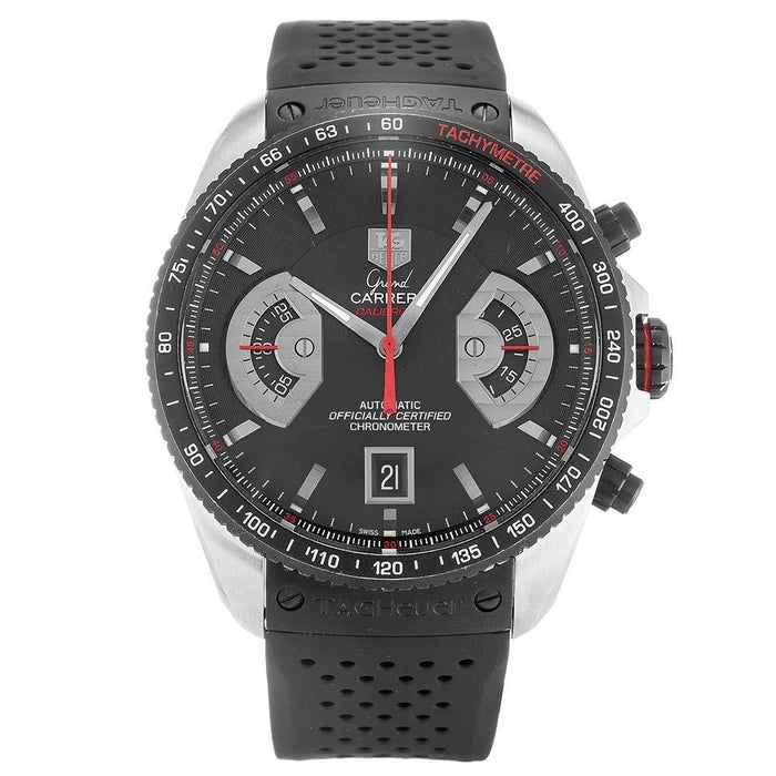 Tag Heuer Grand Carrera Automatic Chronograph Automatic Black Rubber Watch CAV511C.FT6016