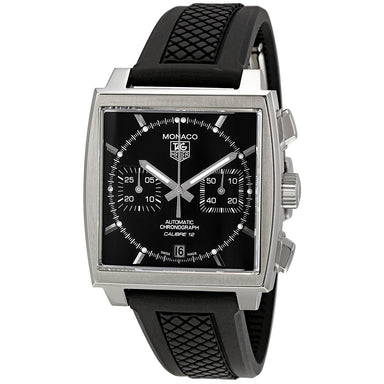 Tag Heuer Monaco Automatic Chronograph Automatic Black Rubber Watch CAW2110.FT6021
