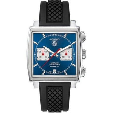 Tag Heuer Monaco Quartz Black Rubber Watch CAW2111.FT6005
