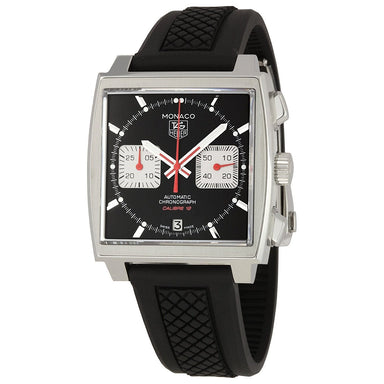 Tag Heuer Monaco Automatic Chronograph Automatic Black Rubber Watch CAW2114.FT6021