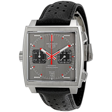 Tag Heuer Monaco Automatic Chronograph Automatic Black Leather Watch CAW211B.FC6241