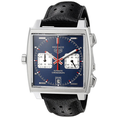 Tag Heuer Monaco Automatic Chronograph Automatic Black Leather Watch CAW211P.FC6356