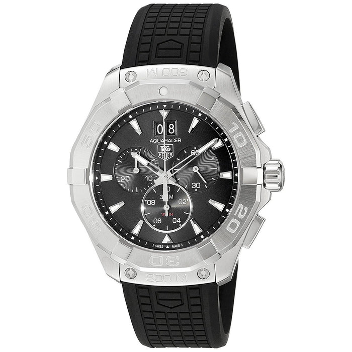 Tag Heuer Aquaracer Quartz Chronograph Black Rubber Watch CAY1110.FT6041