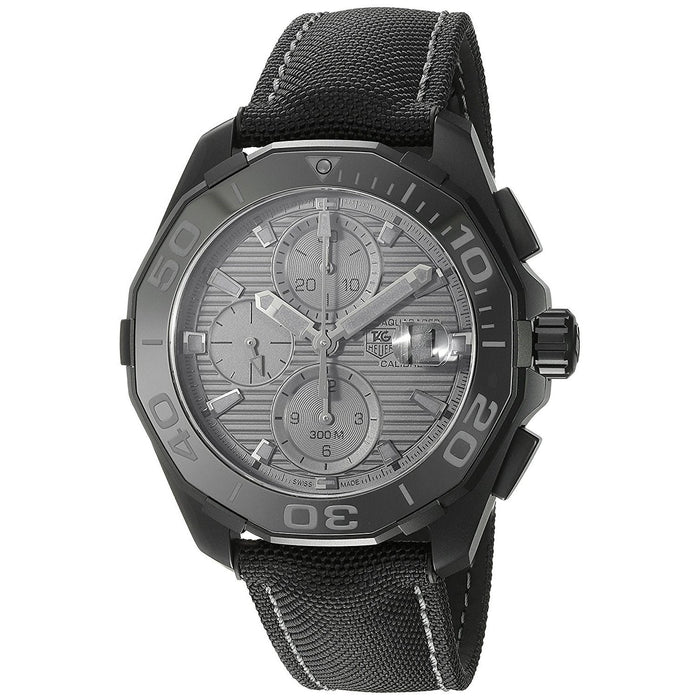 Tag Heuer Aquaracracer Automatic Chronograph Automatic Black Canvas Watch CAY218B.FC6370