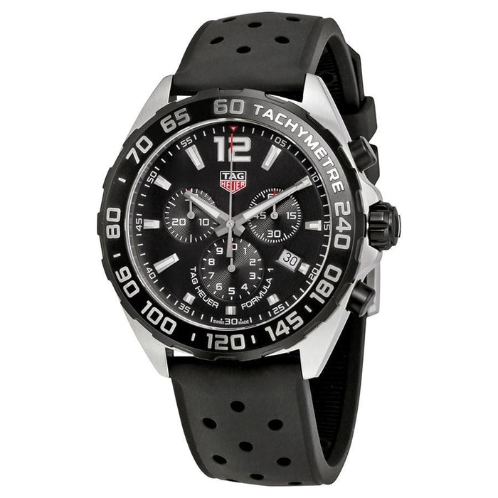 Tag Heuer Formula 1 Quartz Chronograph Black Rubber Watch CAZ1011.FT8024