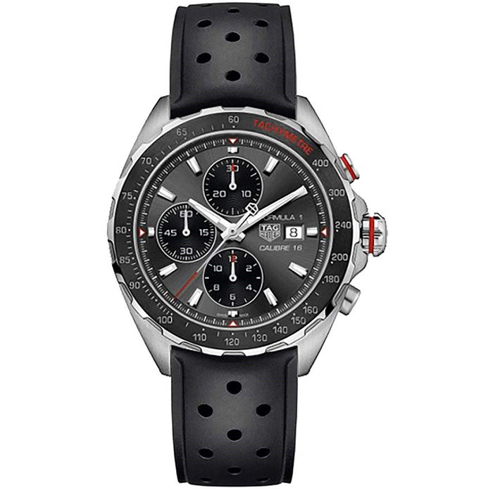 Tag Heuer Formula 1 Quartz Chronograph Black Rubber Watch CAZ2012.FT8024