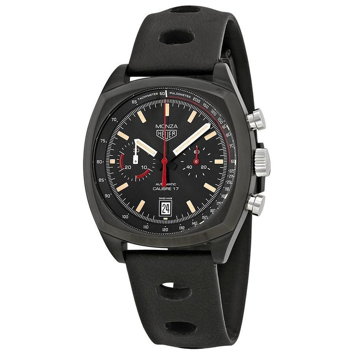 Tag Heuer Monza Limited Edition Calibre 17 Automatic Chronograph Automatic Black Leather Watch CR2080.FC6375