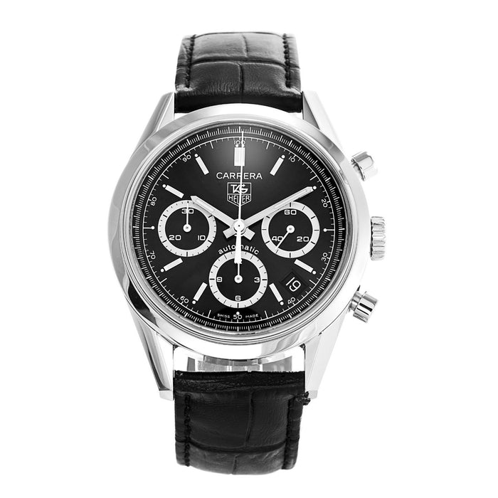 Tag Heuer Carrera Automatic Automatic Black Leather Watch CV2113.FC6180