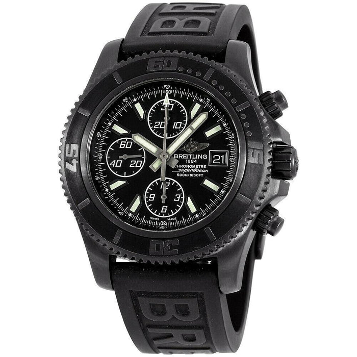 Breitling Superocean Automatic Chronograph Black Silicone Watch M13341B7-BD11-152S