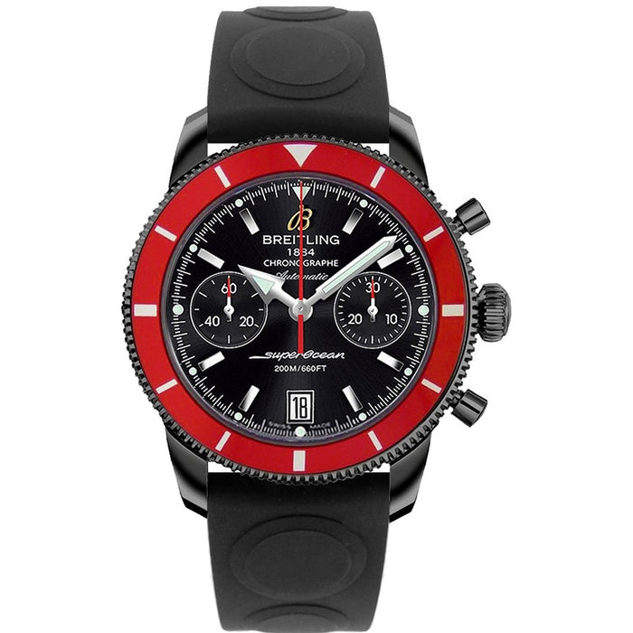 Breitling Superocean Heritage 44 Automatic Chronograph Automatic Black Rubber Watch M23370D4-BB81