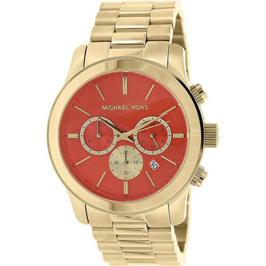 Michael Kors Runway Quartz Chronograph Gold-Tone Stainless Steel Watch MK5930