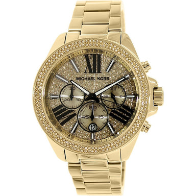 Michael Kors Wren Quartz Chronograph Gold-Tone Stainless Steel Watch MK6095