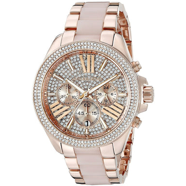 Michael Kors Wren Quartz Chronograph Rose-Tone Stainless Steel Watch MK6096
