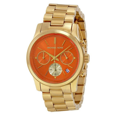 Michael Kors Runway Quartz Chronograph Gold-Tone Stainless Steel Watch MK6162