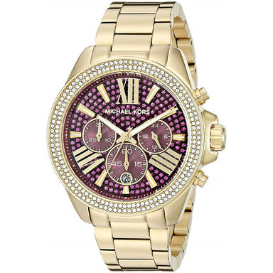 Michael Kors Wren Quartz Chronograph Crystal Gold-Tone Stainless Steel Watch MK6290