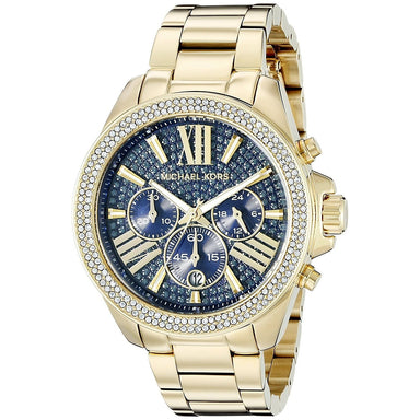 Michael Kors Wren Quartz Chronograph Crystal Gold-Tone Stainless Steel Watch MK6291