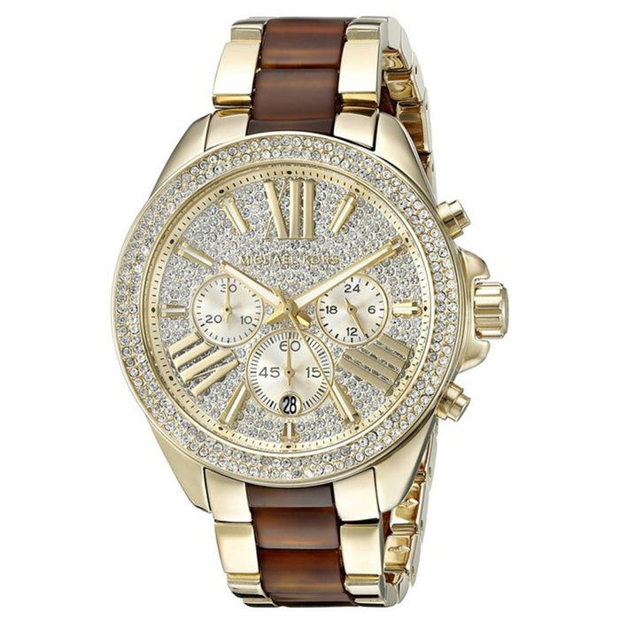 Michael Kors Wren Quartz Chronograph Crystal Two-Tone Stainless Steel Watch MK6294