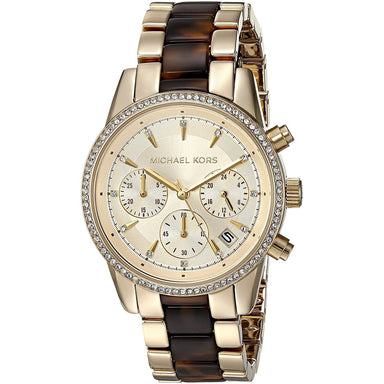 Michael Kors Ritz Quartz Chronograph Crystal Two-Tone Stainless steel and Acetate Watch MK6322