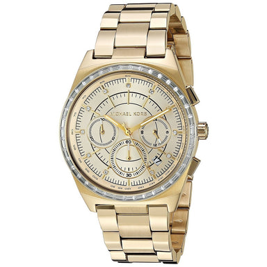 Michael Kors Vail Quartz Chronograph Crystal Gold-Tone Stainless Steel Watch MK6421