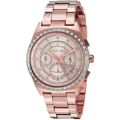 Michael Kors Vail Quartz Chronograph Crystal Rose-Tone Stainless Steel Watch MK6422