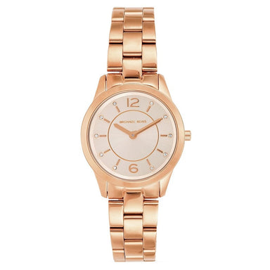 Michael Kors Runway Quartz Rose Gold-Tone Stainless Steel Watch MK6591