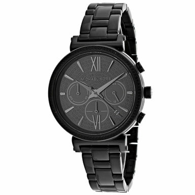 Michael Kors Sofie Quartz Chronograph Black Stainless Steel Watch MK6632