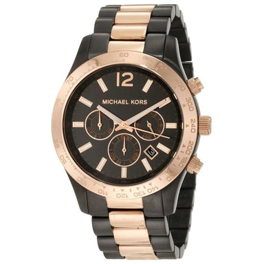 Michael Kors Runway Quartz Chronograph Two-Tone Stainless Steel Watch MK8189