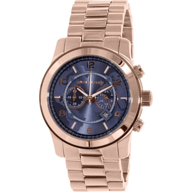 Michael Kors Watch Hunger Stop Quartz Chronograph Rose-Tone Stainless Steel Watch MK8358