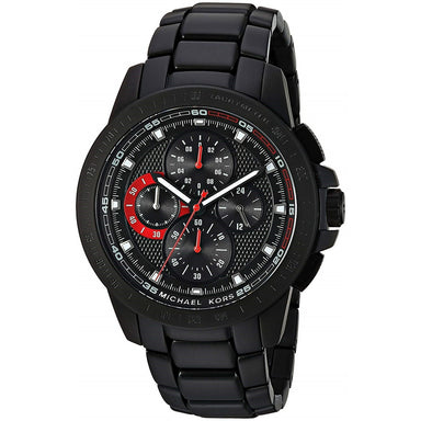 Michael Kors Ryker Quartz Chronograph Black Stainless Steel Watch MK8529
