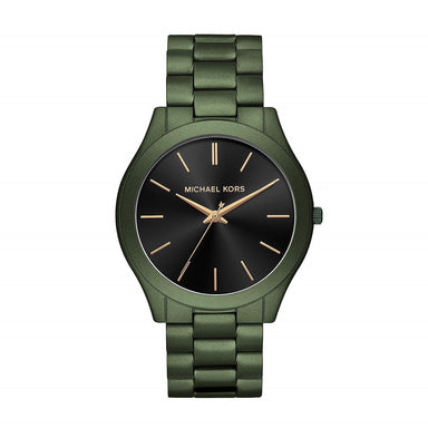 Michael Kors Slim Runway Quartz Green Stainless Steel Watch MK8715