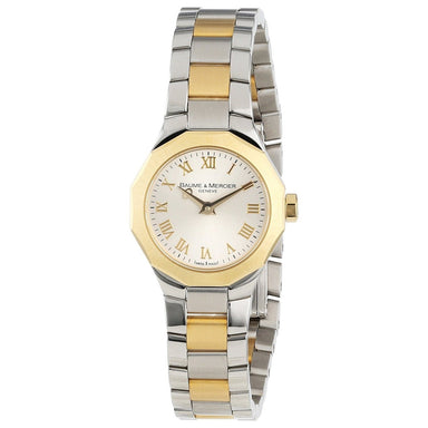 Baume & Mercier Riviera Quartz 18K Yellow Gold Two-Tone Stainless Steel Watch MOA08762
